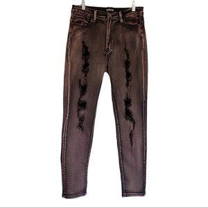 Fashion Nova High Rise Distressed Skinny Jeans 11